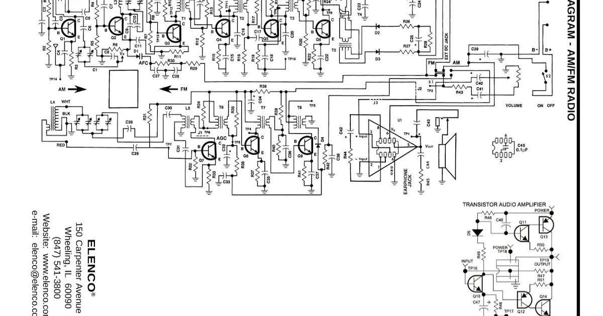simple fm radio circuit diagram