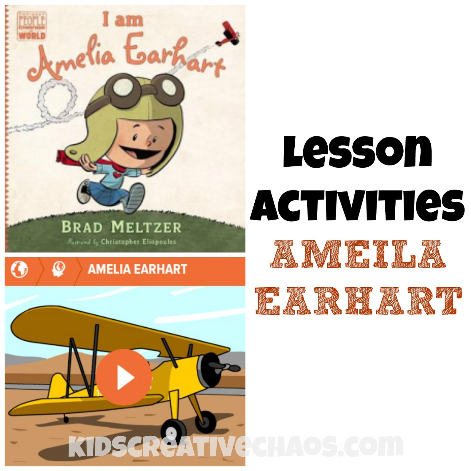 Amelia Earhart Lesson Activities Book Review