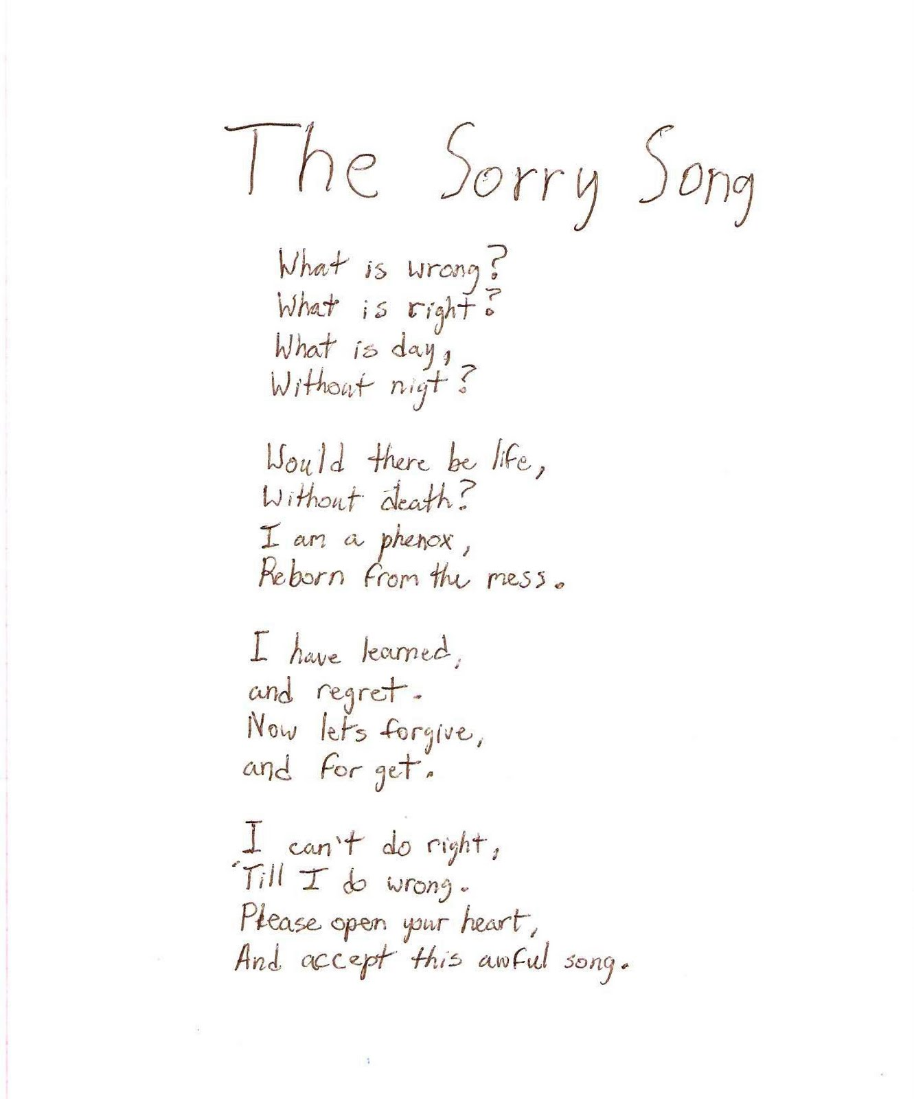 Sorry Poems For Friends – Daily Motivational Quotes