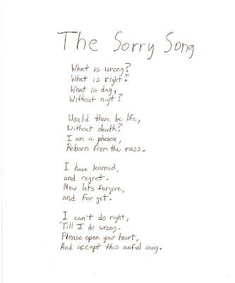 Suburban Soliloquy: Self-Apologies