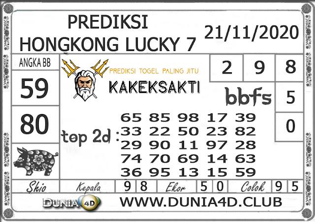 Prediksi Togel HONGKONG LUCKY 7 DUNIA4D 21 NOVEMBER 2020