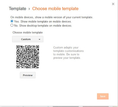 Mobile friendly blogger's template