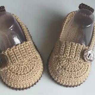 Mocasines de Bebé a Crochet