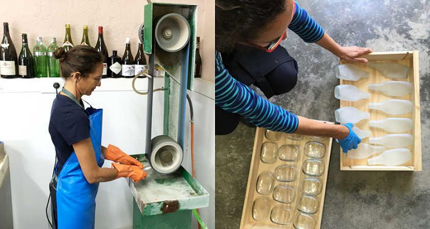 taller reciclaje de vidrio