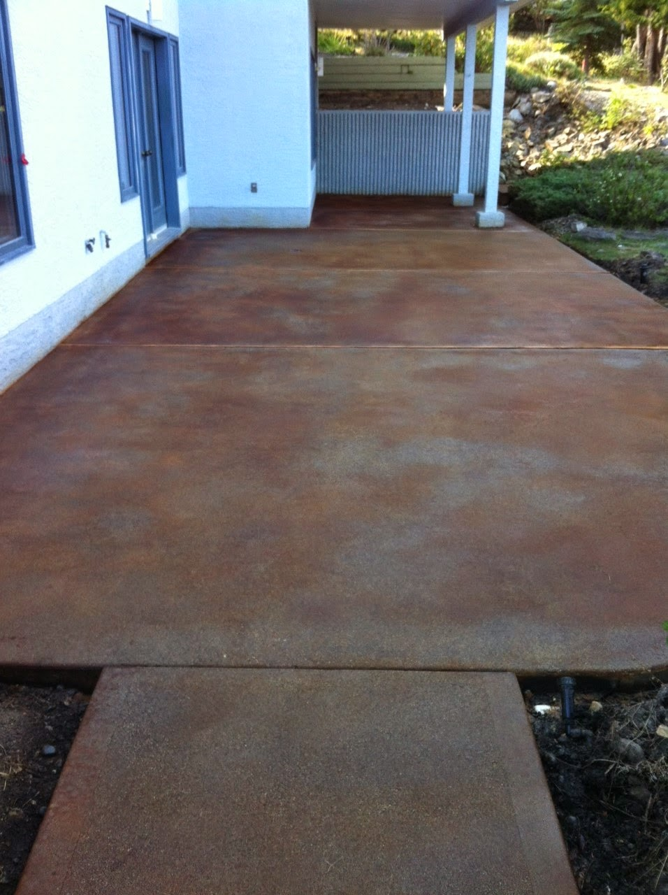 Staining New Concrete Patio
