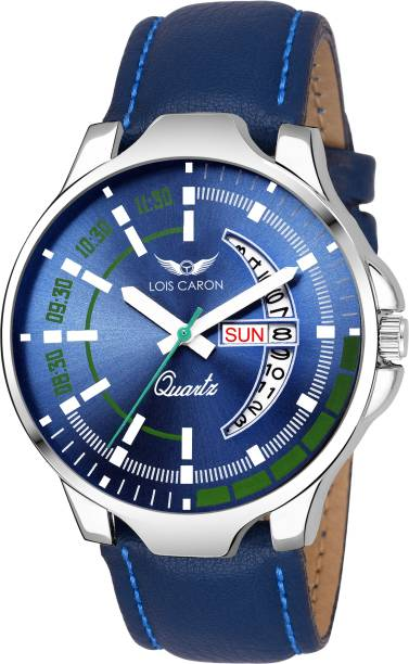 5b635f61ea2 Lois Caron LCS-8071 BLUE DIAL DAY   DATE FUNCTIONING Watch - For Men