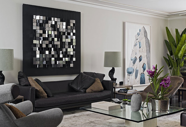 كيف اختيار اللوحات الجميلة والأنيقة لغرفة المعيشة