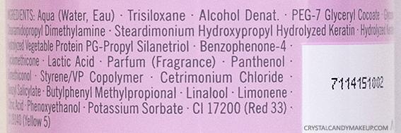Schwarzkopf Professional BC Color Freeze Spray Conditioner Ingredients