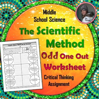 Scientific Method Odd One Out Worksheet