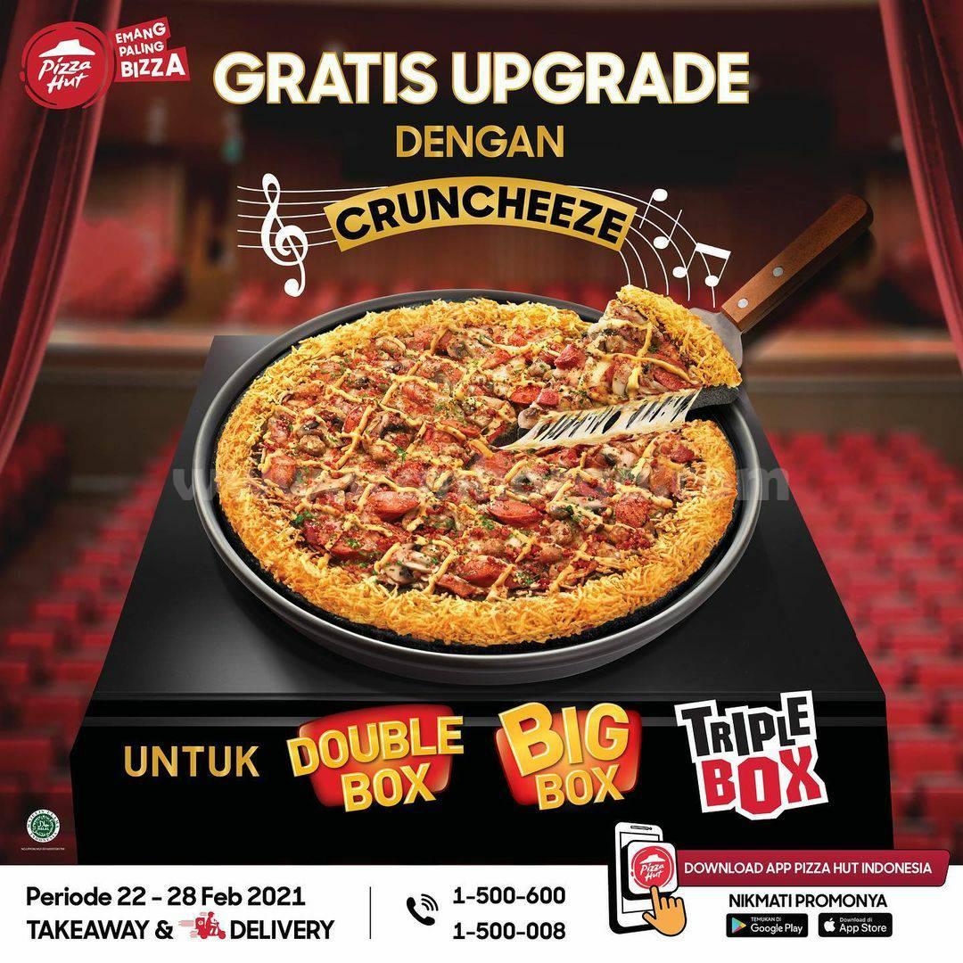 PIZZA HUT Black Meat Monsta! Promo GRATIS UPGRADE pinggiran Cruncheeze