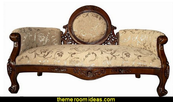 Victorian Cameo-Backed Sofa victorian parlor furniture