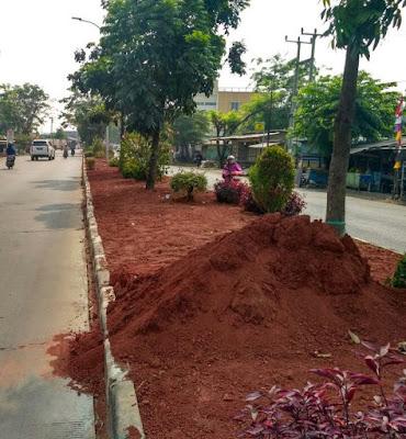 Ini Anggaran Pembangunan Taman Pembatas Jalan Karawang
