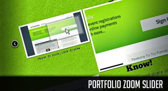 Portfolio Zoom Slider with jQuery