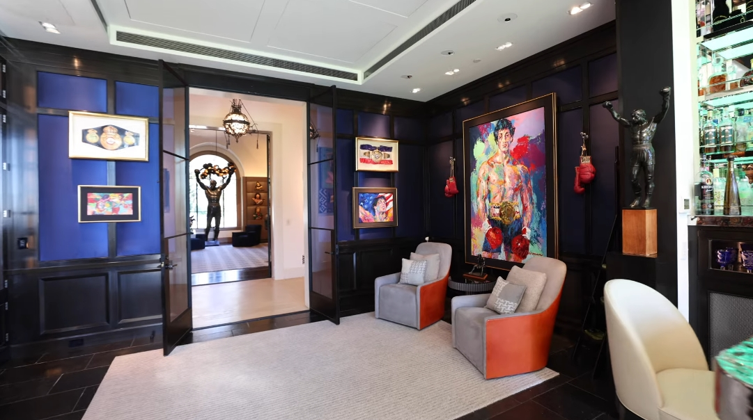 40 Interior Design Photos vs. Sylvester Stallone's $110 Million Beverly Hills Luxury Mansion