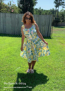 Sharon wearing Butterick 6674 Sundress