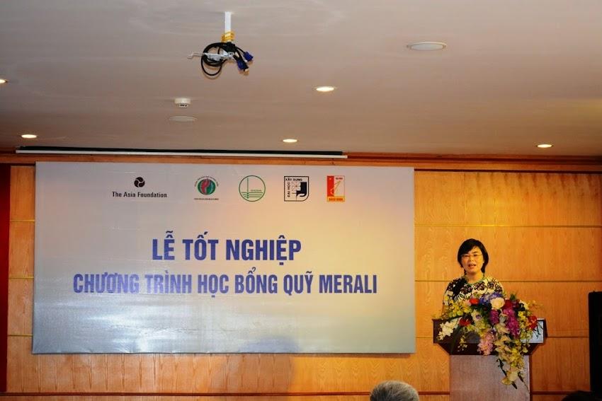 Bà Tô Kim Liên, Giam đốc Trung tâm Giáo dục và Phát triển phát biểu