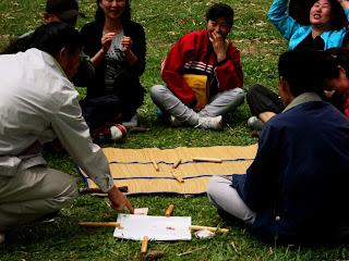 Animação dos Participantes do Jogo no Lago das Carpas - Parque da Cantareira, São Paulo