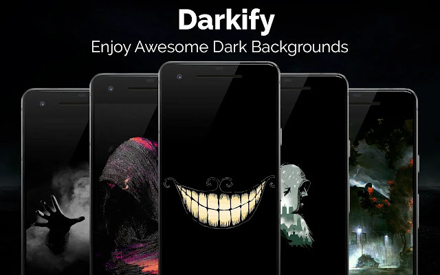 تحميل تطبيق خلفيات و صور سوداء للاندرويد  Black Wallpaper Darkify Apk
