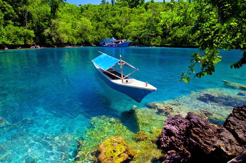 Sulamadaha Water Clarity Beach in Ternate, North Maluku Indonesia  Indonesian Islands Culture