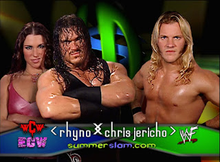 WWE / WWF Summerslam 2001 - Stephanie McMahon backed Rhyno in his match with Chris Jericho