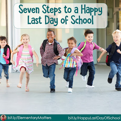 Seven Steps to a Happy Last Day of School - Part 2: Leave Out a Few Favorite Games. This post includes a reading celebration game freebie!