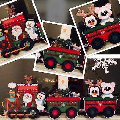 Silhouette Window Cling Material - Santa Express
