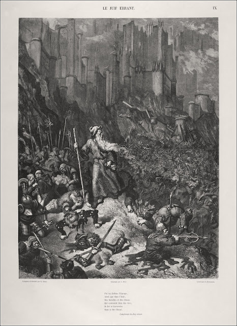 Gustave Doré's imagination of Ahasuerus striding through the ages