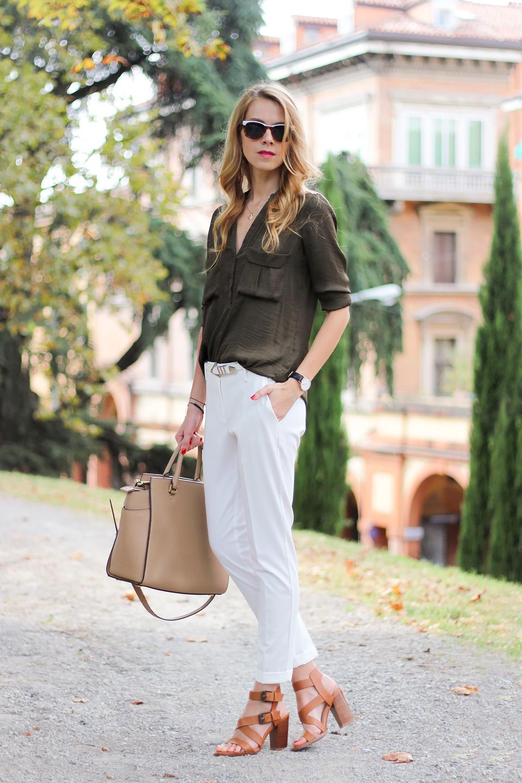 23d540de017 Military Green Blouse Outfit