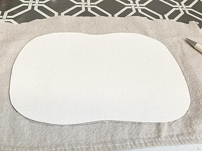 drop cloth fabric and pumpkin shape