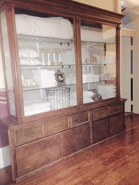 linen cabinet in historic home