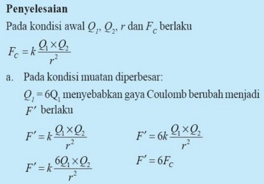 Contoh hukum coulomb