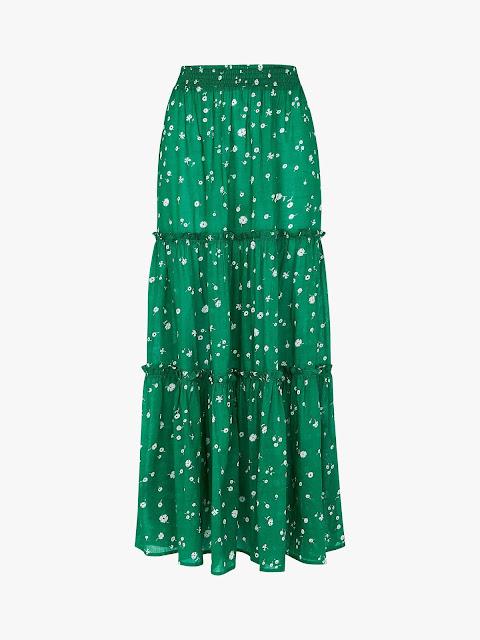 whistles primula floral print skirt