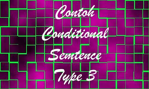 Contoh Conditional Sentence Type 3 Dengan Fakta dan Materi Lengkap