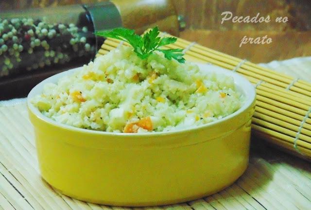 receita de arroz de couve flor
