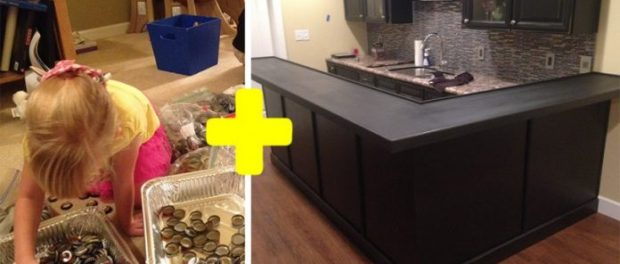 Εντυπωσιακό: Άνδρας μάζεψε χιλιάδες καπάκια και μεταμόρφωσε την κουζίνα του με τον πιο μοναδικό τρόπο.
