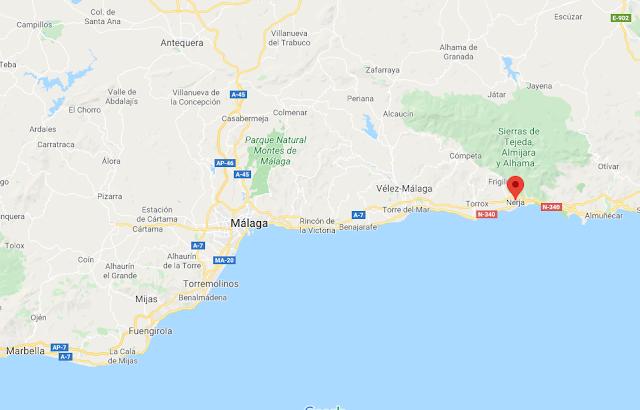 dónde está el pueblo de Nerja, en Málaga