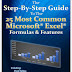The Step-By-Step Guide To The 25 Most Common Microsoft Excel Formulas & Features 2021
