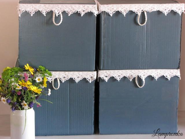 Φτιάξε όμορφα κουτιά αποθήκευσης από χαρτόκουτα