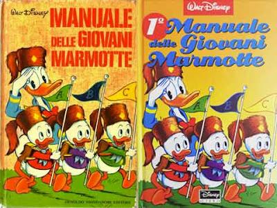 Il primo Manuale delle Giovani Marmotte, edizione Mondadori (1969) e Disney (1991)