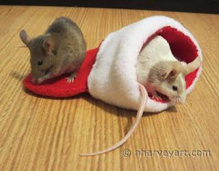 """""""Christmas Mice"""" original photo"""