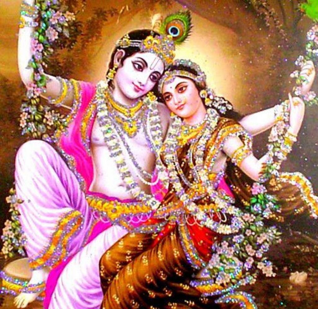 radha krishna ki romantic image