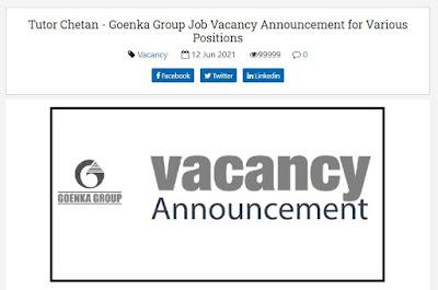 Goenka Group, Kathmandu Job Vacancy for Various Positions Manager, Senior Sales Officer, HR Officer, Purchase Officer, etc