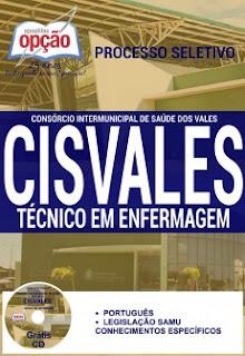 Apostila Concurso CISVALES-MG - Consórcio Intermunicipal de Saúde dos Vales MG.