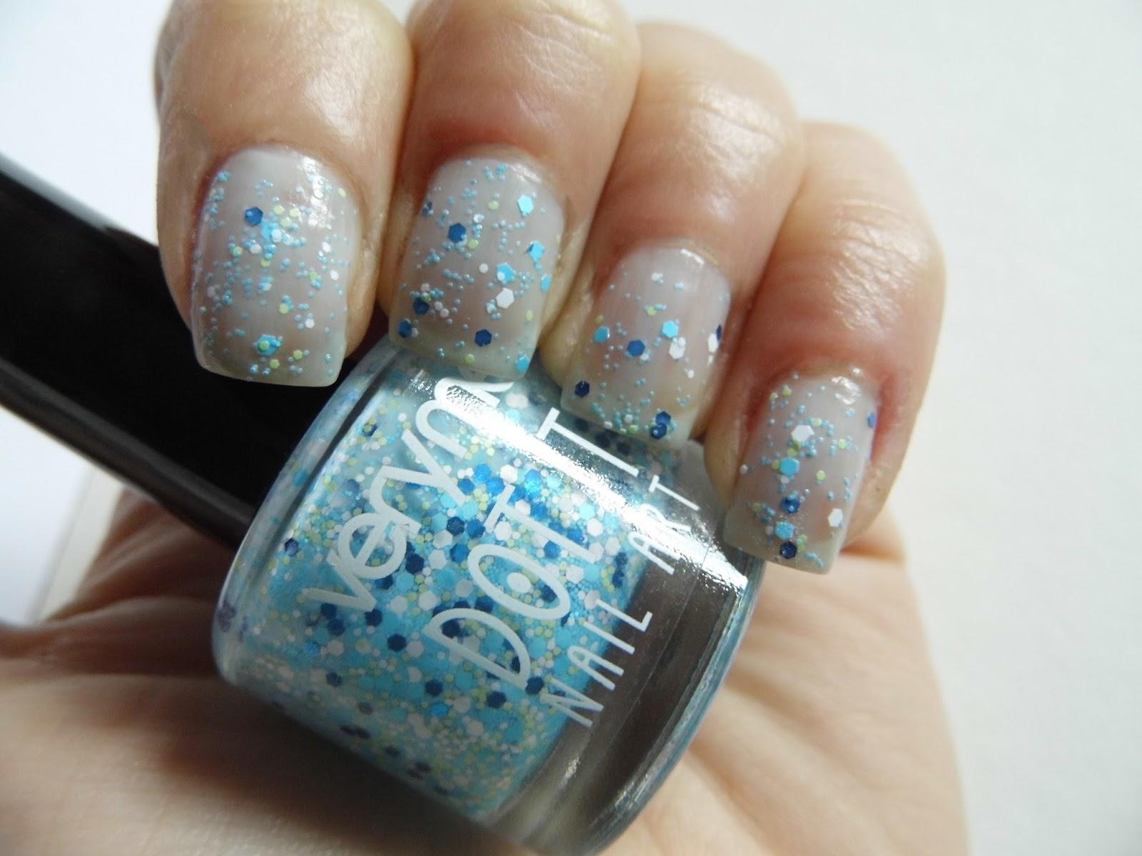 Fall Nails Ideas: Oriflame Dot It Crusty Blue Nail Polish - Just Ajda