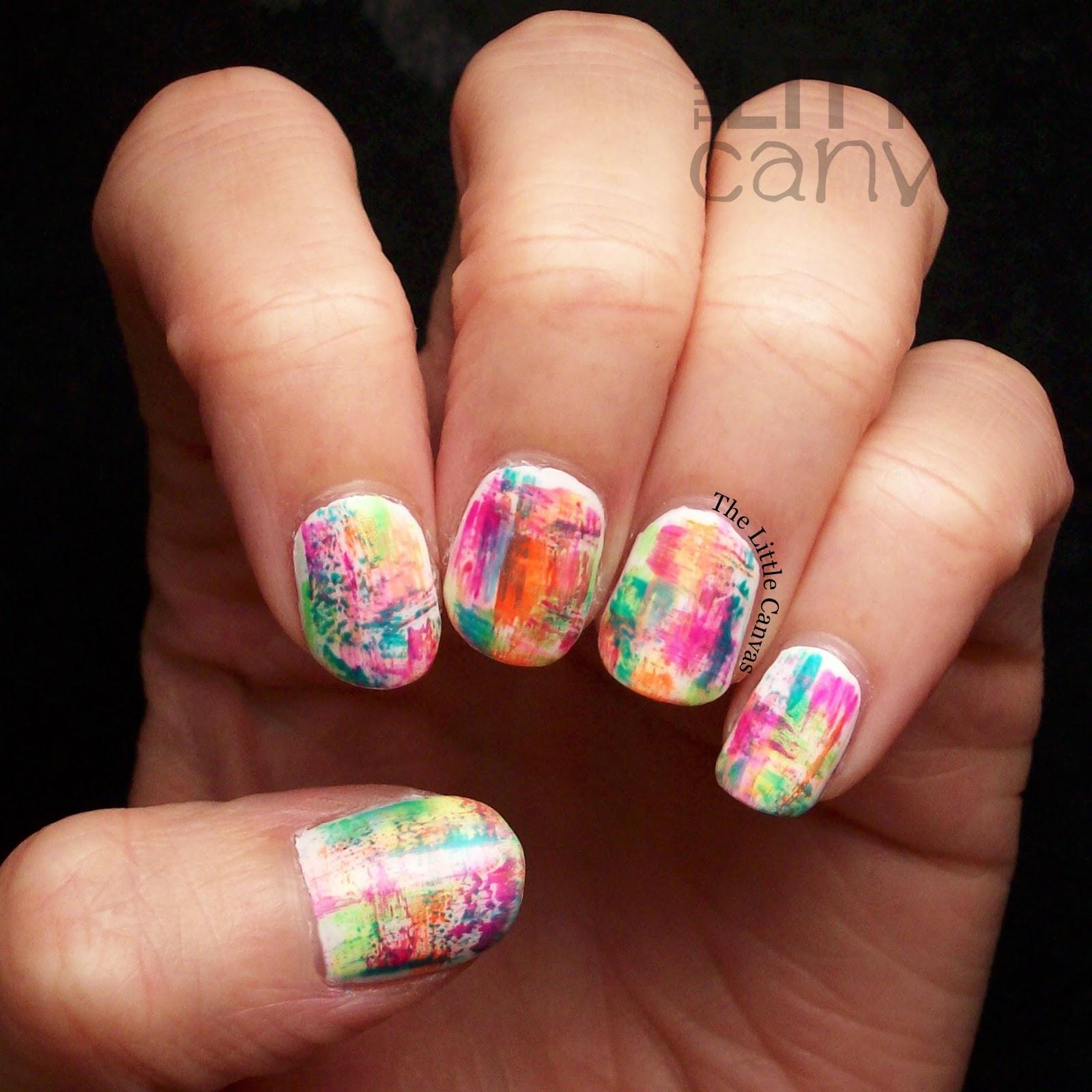 Salon Perfect Neon Pop Grunge Nails The Little Canvas