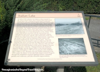 Italian Lake Historical Marker in Harrisburg Pennsylvania