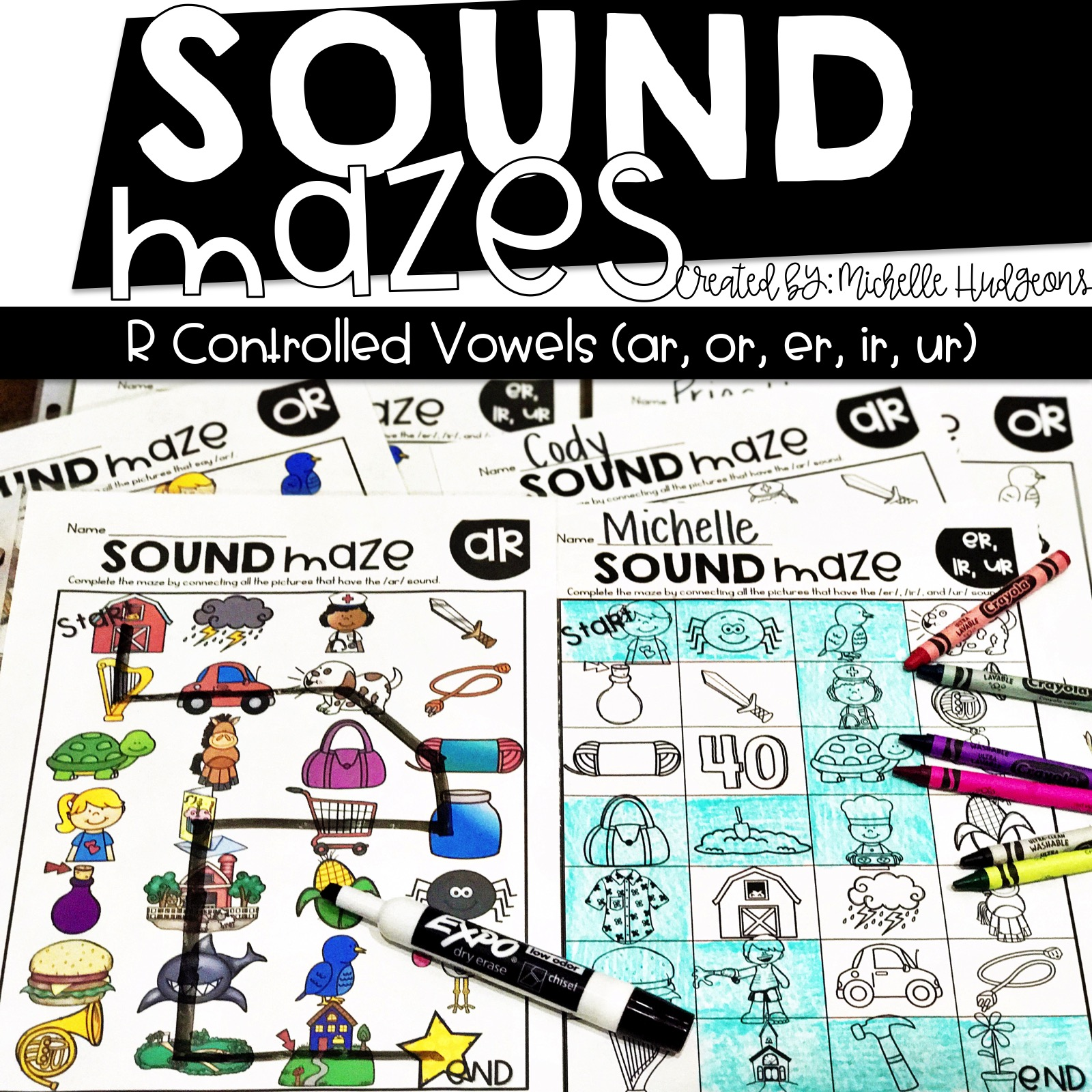 Sound Mazes Phonics Activities
