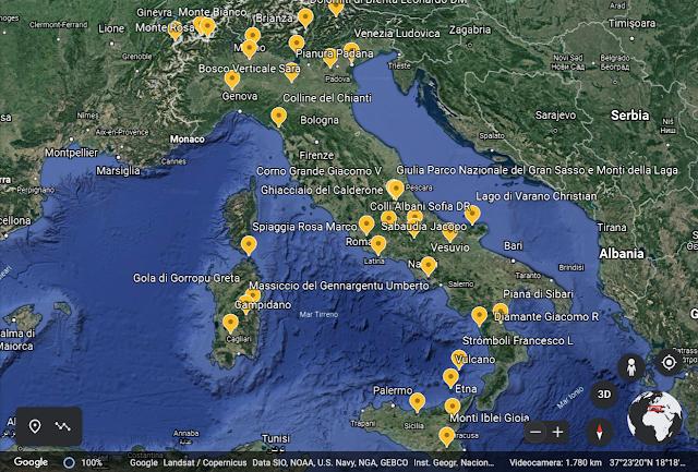 Un tour dell'Italia realizzato dai bambini