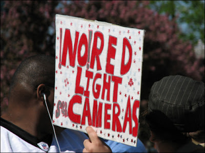 no red light camera sign