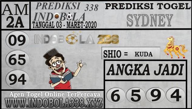 Prediksi Togel Jitu Sidney Selasa 03 Maret 2020 - Prediksi Indobola